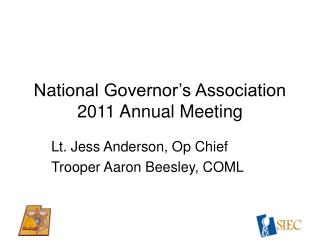 National Governor's Association 2011 Annual Meeting