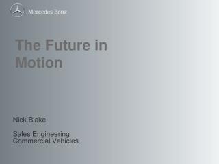 Nick Blake Sales  Engineering Commercial Vehicles