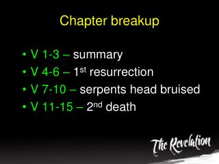 Chapter breakup