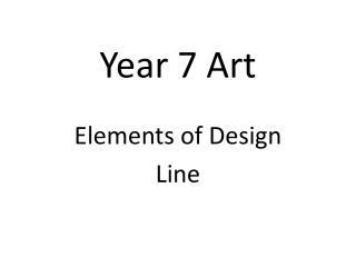 Year 7 Art