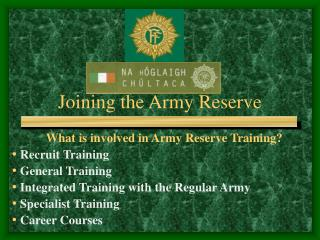 Joining the Army Reserve