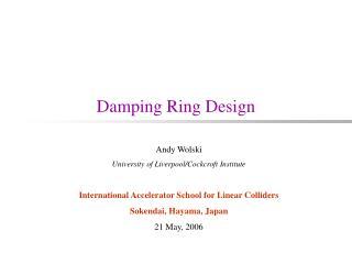 Damping Ring Design
