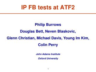 IP FB tests at ATF2