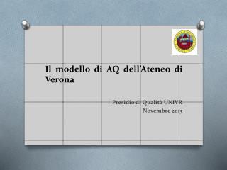 Il modello di AQ dell'Ateneo di Verona