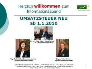 UMSATZSTEUER NEU ab 1.1.2010