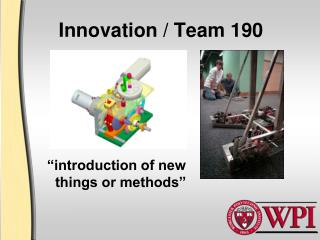Innovation / Team 190
