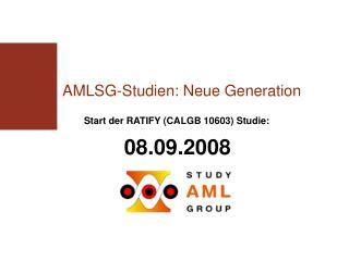 AMLSG-Studien: Neue Generation