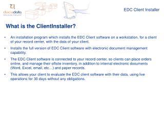 EDC Client Installer