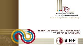 Essential drug list translated to medical schemes