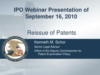 Reissue of Patents