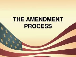 THE AMENDMENT PROCESS