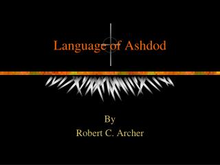 Language of Ashdod
