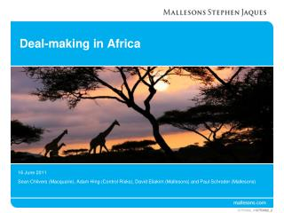 Deal-making in Africa
