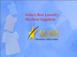 India's best laundry machine supplier
