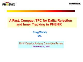 A Fast, Compact TPC for Dalitz Rejection          and Inner Tracking in PHENIX