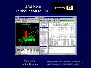 ASAP 2.0 Introduction to EDL