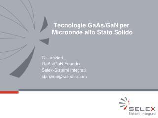 Tecnologie GaAs