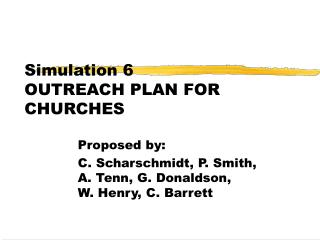 Simulation 6 OUTREACH PLAN FOR CHURCHES