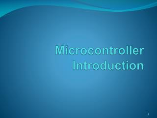 Microcontroller Introduction
