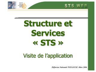 Structure et Services   STS     Visite de l application