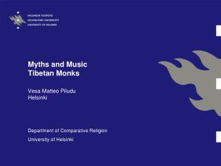 Myths and Music Tibetan Monks