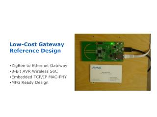 Low-Cost Gateway Reference Design