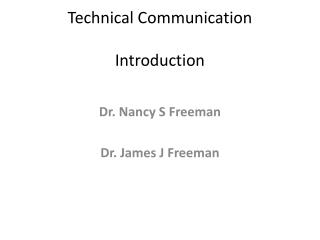 Technical Communication Introduction