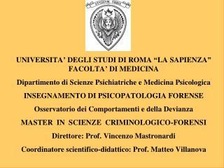 Induzione ed abuso. Vittima ed Attore. Patologia dell et  evolutiva e del giovane adulto, disagio e criminogenesi.