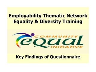 Employability Thematic Network Equality & Diversity Training