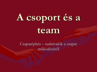A csoport és a team