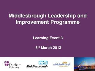 Middlesbrough Leadership and Improvement Programme
