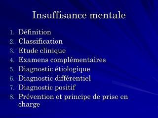 Insuffisance mentale