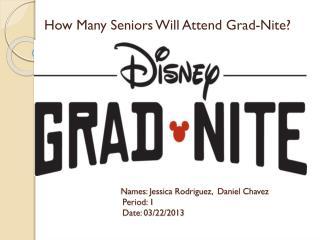 How Many Seniors Will Attend Grad- Nite ?