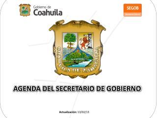 AGENDA DEL SECRETARIO DE GOBIERNO
