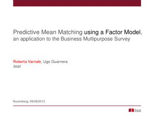 Predictive Mean Matching  using a Factor Model ,