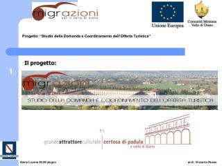 """Progetto: """"Studio della Domanda e Coordinamento dell'Offerta Turistica"""""""