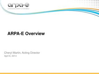 ARPA-E Overview