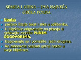 SPARTA I ATENA – DVA NAJVEĆA GRČKA POLISA