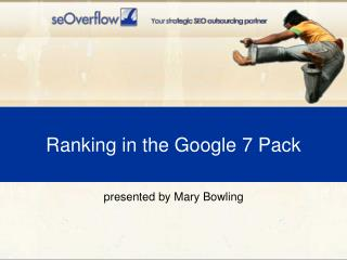 Ranking in the Google 7 Pack