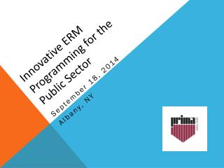 Innovative ERM Programming for the Public Sector