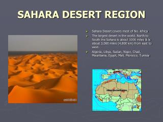 SAHARA DESERT REGION