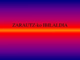 ZARAUTZ-ko IBILALDIA