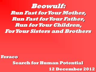 Feraco Search for Human Potential 12 December 2012