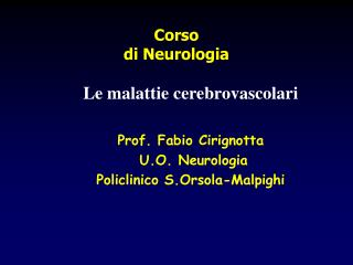 Corso  di Neurologia