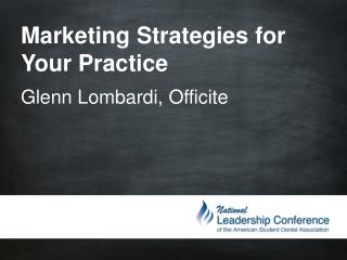 Marketing Strategies for Your Practice