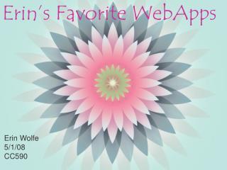 Erin's Favorite WebApps
