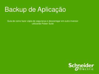 Backup de Aplicação