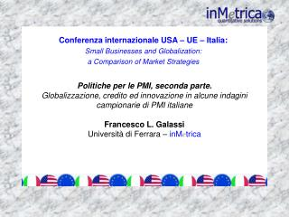 Conferenza internazionale USA  – UE – Italia: Small Businesses and Globalization: