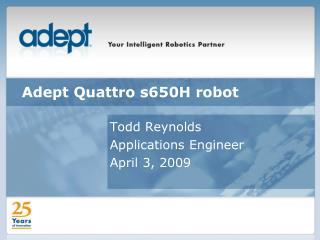Adept Quattro s650H robot