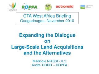 CTA West Africa Briefing   Ouagadougou. November 2010